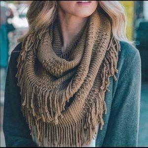 ⭐️2/$38Pointelle Knit Soft Infinity Scarf in Mocha